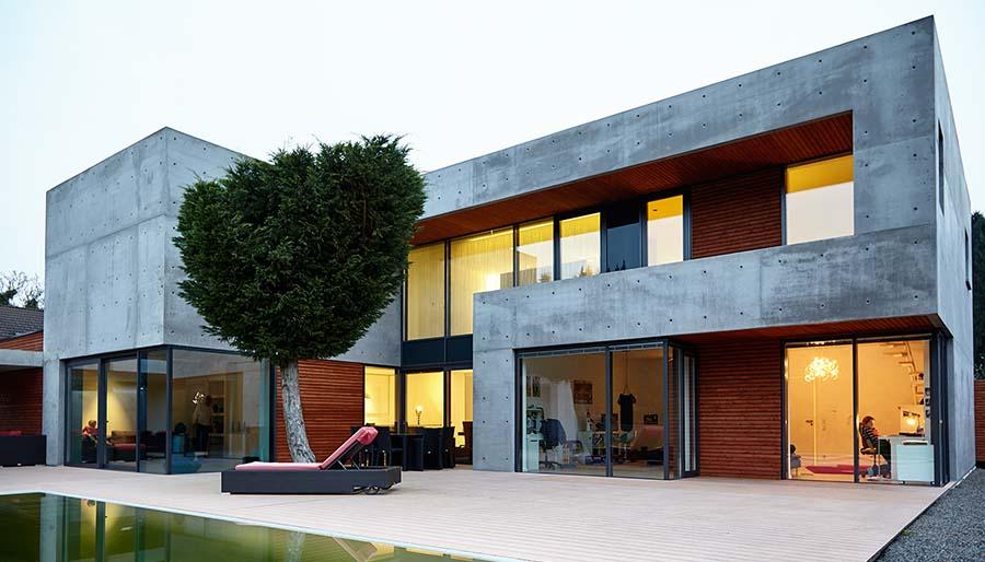 Haus Einrichten Wohnkonzept Sichtbeton ~ Kreative Ideen für Design ...